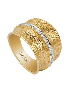D'Oro 14 Kt. Gold Diamond Band by Effy in Addicted