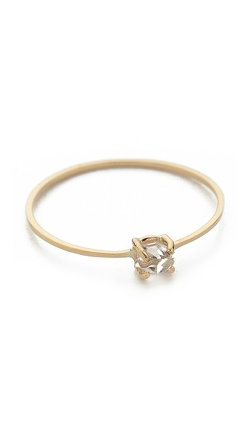 Herkimer Diamond Quartz Pinky Ring by Kristen Elspeth in Pretty Little Liars