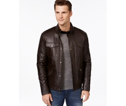 Quilted Leather Moto Jacket by Michael Kors in Jessica Jones