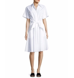 Collared Cotton Shirtdress by Diane von Furstenberg in American Made