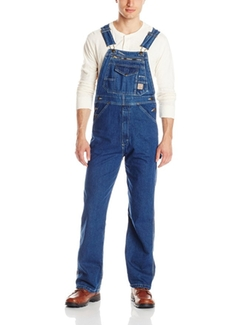 Men's Original Unlined Washed Denim Bib Overall by Berne in Modern Family