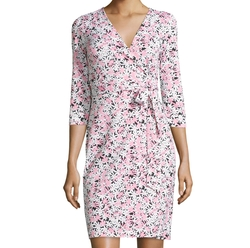 New Julian Two Garden Daisy Wrap Dress by Diane Von Furstenberg in Gilmore Girls: A Year in the Life
