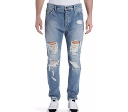 Ripped Vintage Wash Jeans by Palm Angels in Empire