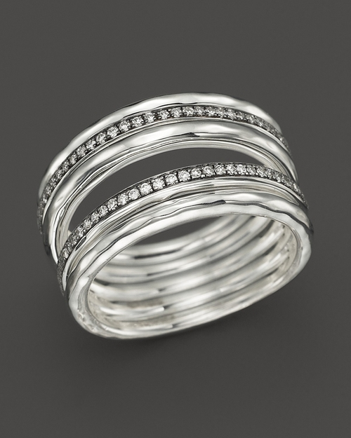 Sterling Silver Stella Five Band Solid Stack Ring by Ippolita in Bridesmaids