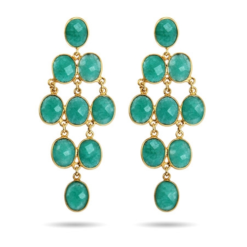 Vermeil Emerald Chandelier Earrings by Eve's Addiction in Crazy, Stupid, Love.