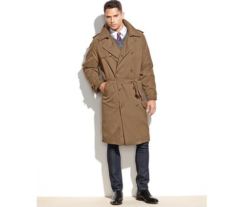 Iconic Belted Trench Raincoat by London Fog in Back To The Future