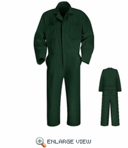 Spruce Green Twill Action Back Coverall by American Work Apparel in Max