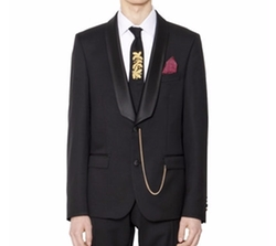 Satin Lapin Wool Serge Tuxedo Jacket by Lords & Fools in Justin Timberlake and the Tennessee Kids