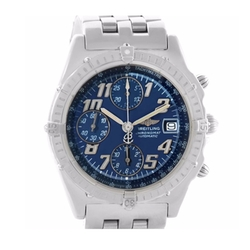 Chronomat Blue Dial Steel Watch by Breitling in Billions