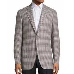 Checked Wool Blazer by Canali in Empire