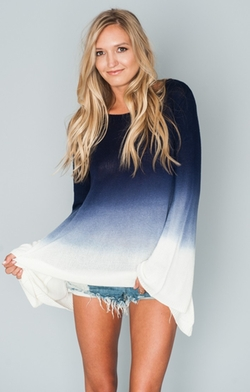 Pacific Dip Dye Festibell Sweater by Show Me Your Mumu in The Bachelorette