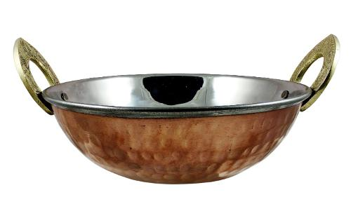 Indian Copper Serveware Karahi Vagetable Dinner Bowl by Royalty Lane in The Hundred-Foot Journey