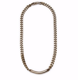 Brass ID Chain Necklace by Giles & Brother in Power