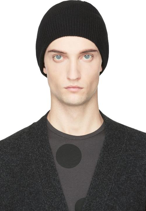 Black Rib Knit Beanie Hat by Lad Musician in The Hunger Games: Mockingjay Part 1