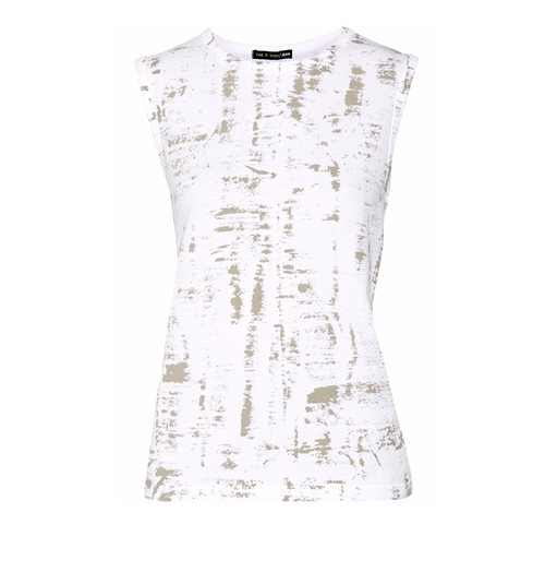 Printed Cotton Tank by Rag & Bone in Urge