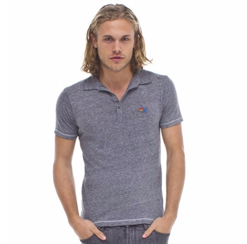 Polo Shirt by Aviator Nation in Flaked - Season 1 Preview