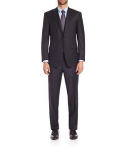 Wool Two-Button Suit by Canali in Guilt