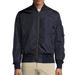 Timothe Zip-Up Nylon Bomber Jacket by Moncler in The Flash