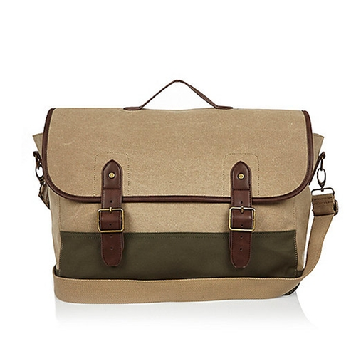 Canvas Satchel Bag by River Island in Mad Dogs -  Looks