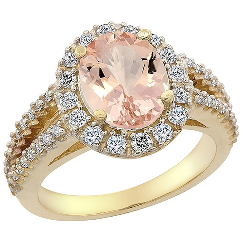 Natural Morganite Ring by Piera in Scream Queens