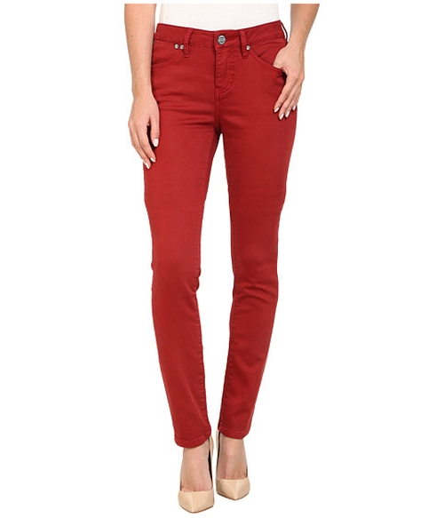 Janette Mid Rise Slim Knit Denim Jeans by Jag Jeans in Unbreakable Kimmy Schmidt