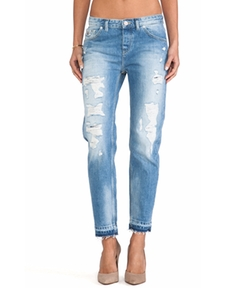 Ripped Boyfriend Le Garcon Jeans by Maison Scotch in Power Rangers