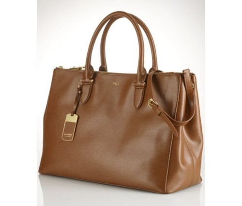 Double Zip Satchel Bag by Lauren Ralph Lauren in That Awkward Moment