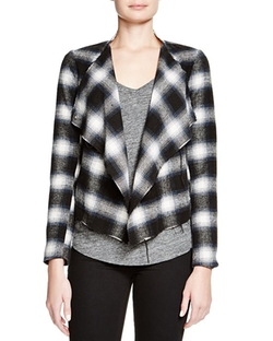 Draped Plaid Jacket by BB Dakota in New Girl