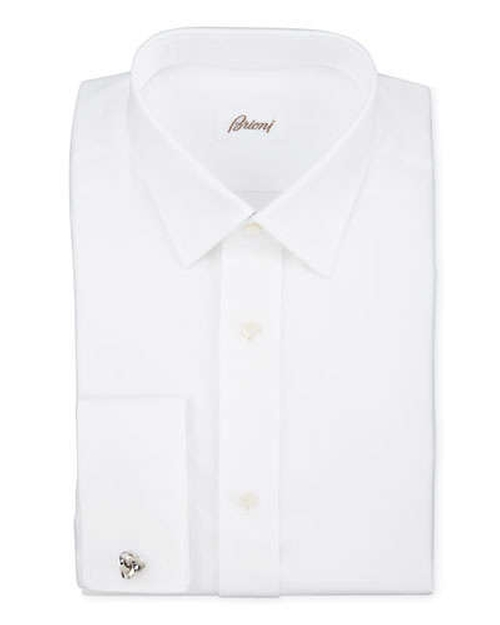 Twill French-Cuff Trim-Fit Shirt by Brioni in Survivor