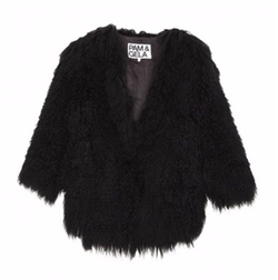Cropped Mongolian Fur Coat by Pam & Gela in Keeping Up With The Kardashians