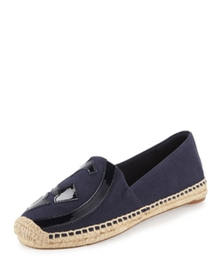 Lonnie Logo Espadrille Flat Shoes by Tory Burch in Supergirl
