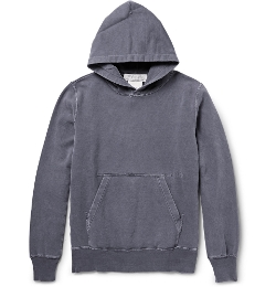Washed Loopback Cotton-Jersey Hoodie by Remi Relief in Self/Less