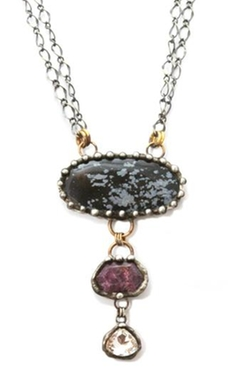 Jasper Ruby Necklace by Mikal Winn in The World is Not Enough