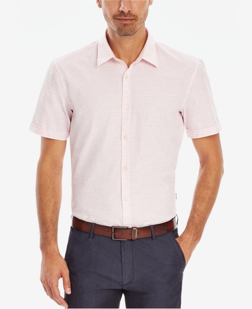 Striped Button Down Shirt by BOSS in The Good Place - Season 1 Episode 7