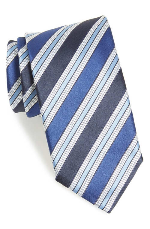 Stripe Silk Tie by Canali in The Big Short