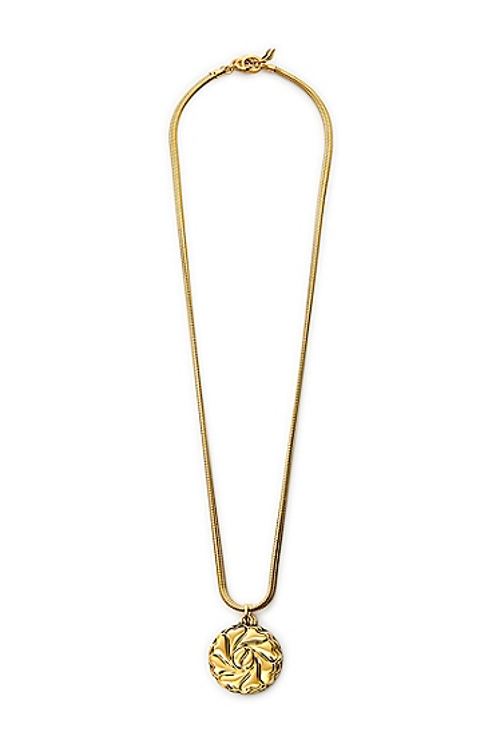 Compass Heart Large Round Pendant Necklace by DVF in Boyhood