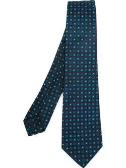 Square Print Tie by Kiton in The Mindy Project