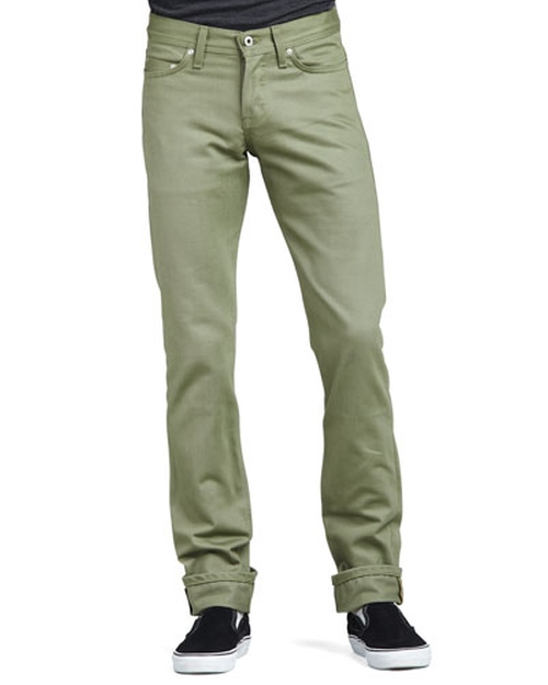 WeirdGuy Selvedge Chino Pants by Naked and Famous Denim	 in Knock Knock