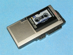 L200 Pearlcorder Microcassette Voice Recorder by Olympus in Regression