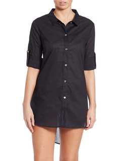 Solid Hi-Lo Button Down Blouse by Michael Michael Kors in Chelsea