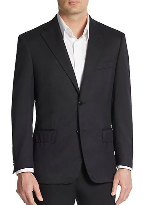 Virgin Wool Suit Jacket by Corneliani in Life
