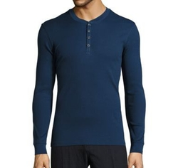 Ribbed Pima Cotton Henley Shirt by John Varvatos in Shadowhunters