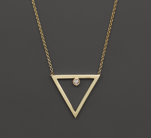 Diamond Open Triangle Necklace by Zoë Chicco in Rosewood - Season 1 Episode 18