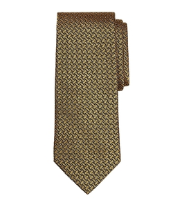 Basketweave Tie by Brooks Brothers in Elf