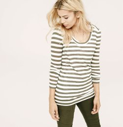 Lou & Grey Heatherstripe Layering Shirt by Loft in If I Stay