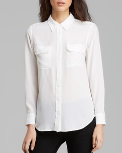 Slim Signature Silk Shirt by Equipment in The Flash