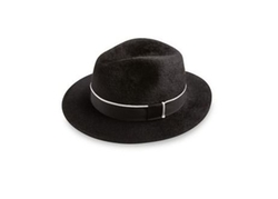 Felt Ribbed Fedora Hat by Barbisio in Rosewood