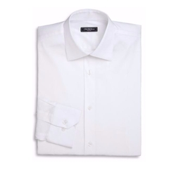 Trim-Fit Solid Dress Shirt by Saks Fifth Avenue Collection in The Good Place