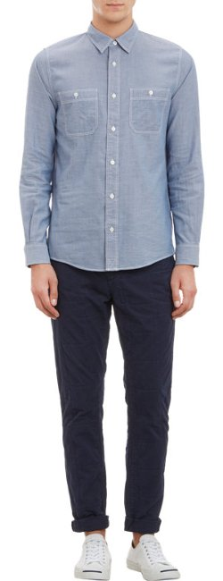 Double-Faced Chambray Shirt by Jack Spade in Need for Speed