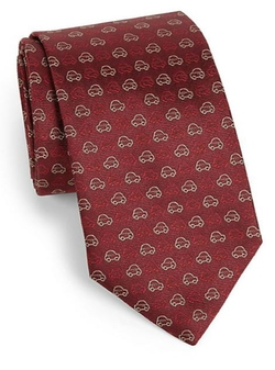 Car Print Silk Tie by Salvatore Ferragamo in The Blacklist